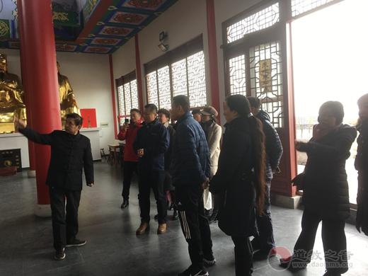 上海华爱基金会一行参访南京方山洞玄观