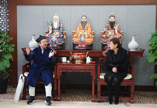 北京市委常委、统战部部长齐静节前走访慰问市道协负责人