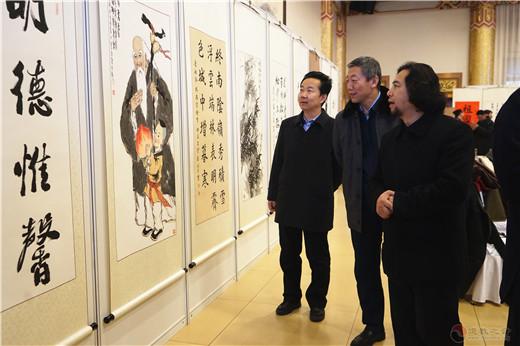 北京道家书画委员会、北京京华蓝天书画院举行2019年会暨庆祝新中国成立70周年书画展
