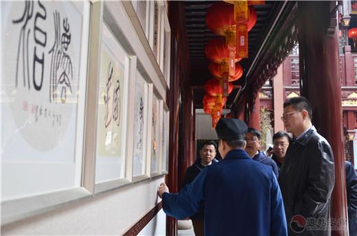 上海市黄浦区委常委、统战部部长沈权检查上海白云观春节消防安全工作