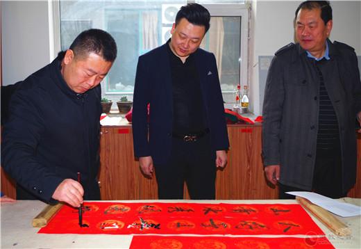 太原市道教协会和太原市新的社会阶层人士联谊会在龙蟠宫举行迎新春书画笔会活动