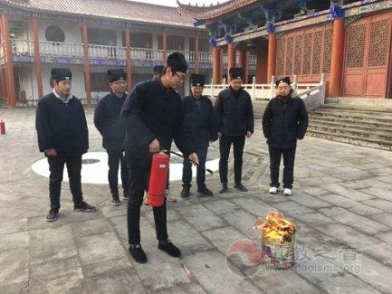 镇江市润州道院开展消防安全演练活动