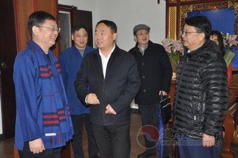 上海市委统战部副部长、市民宗局党组书记王霄汉走访慰问上海道教界人士