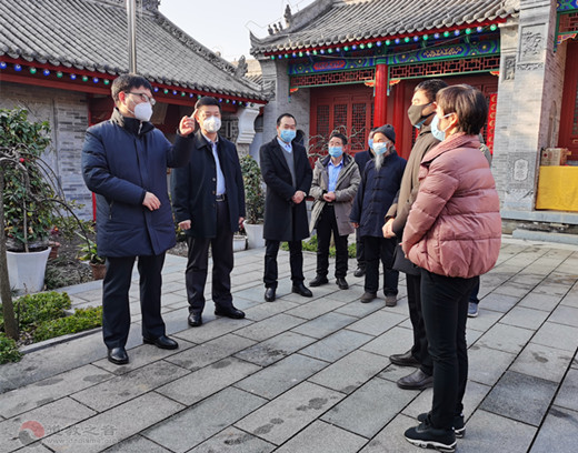 陕西省安康市委常委、统战部部长一行赴紫阳县显月观、真人宫检查指导疫情防控工作