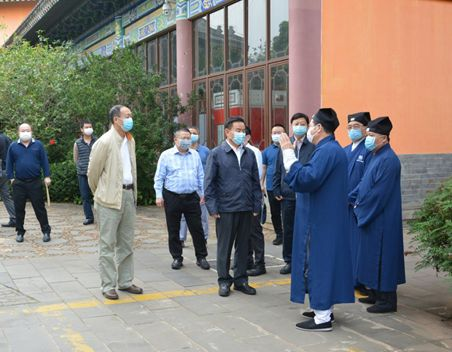 海南省委常委、統戰部部長肖杰檢查指導海南省道教界疫情防控工作