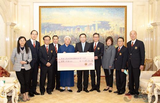 香港啬色园黄大仙祠捐赠港币300万元支援大陆抗疫救治工作