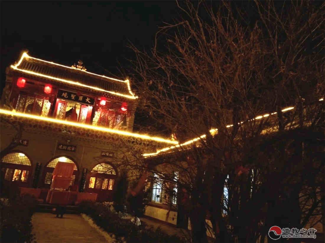 太原市三清觀夜景