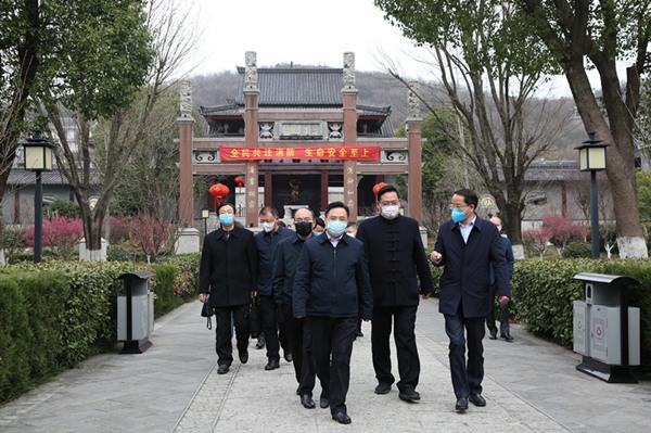 鎮江市民宗局赴句容市調研第五屆國際道教論壇主體項目復工、安全生產工作