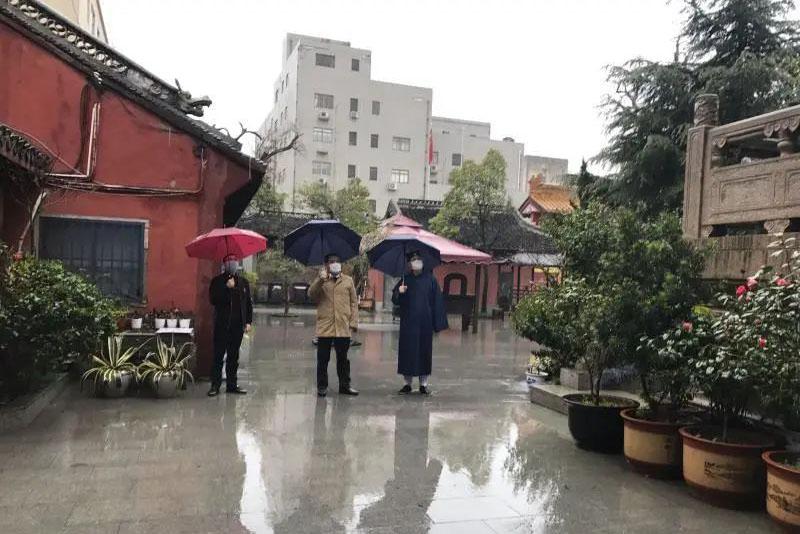 上海市松江区委统战部部长赴区道教协会调研疫情防控工作