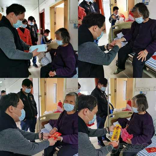 广西道教协会副会长陈应伟道长一行疫情期间到医院慰问住院信众