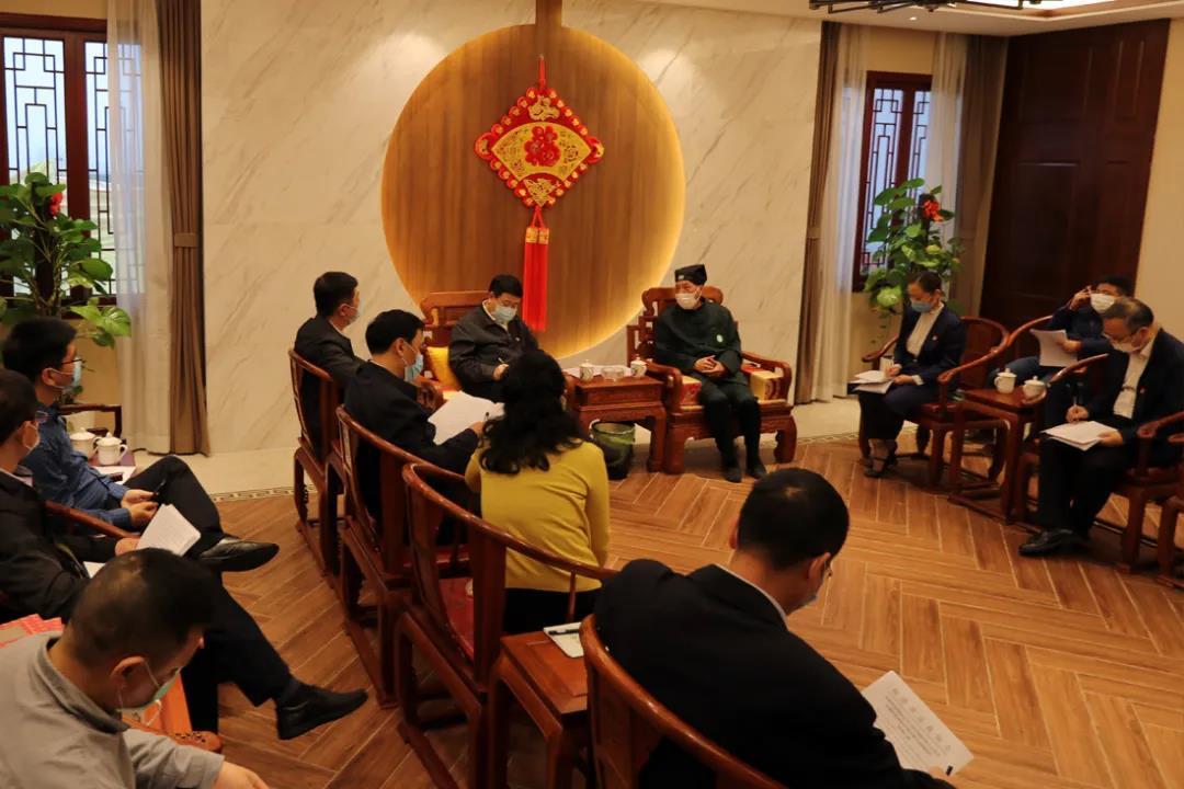 福建省人大常委会调研组莅临福州于山九仙观开展宗教立法调研