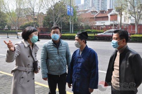 上海城隍庙周旭道长赴黄浦区入境人员集中隔离点慰问