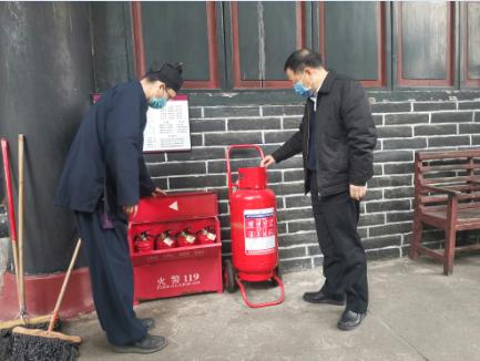 四川省委统战部副部长张富国指导调研宗教活动场所安全工作和疫情防控工作