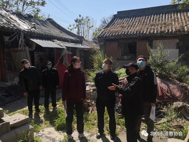 北京市民族宗教委副主任孙启、巡视员红波到海淀区立马关帝庙调研
