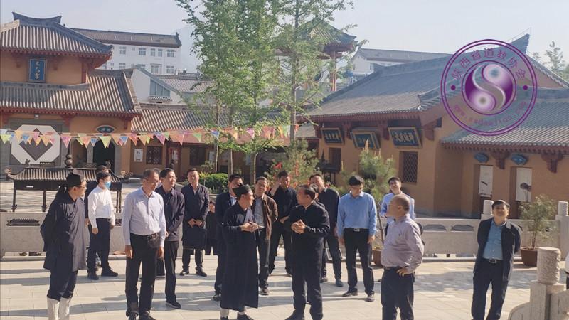 陕西省委常委、统战部部长姜锋调研长安区道协所属宫观