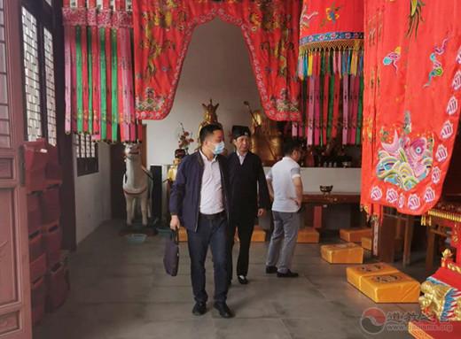 江苏省常州市民宗局副局长徐文河视察将军观安全工作