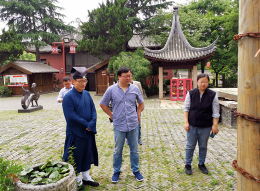 常州市文化广电和旅游局督查白龙观文物保护工作