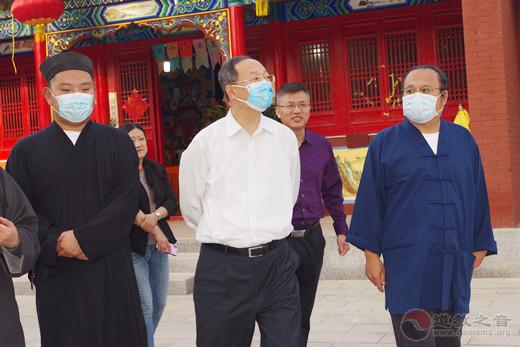 山西省委统战部副部长刘国庆莅临南寒真武庙调研指导