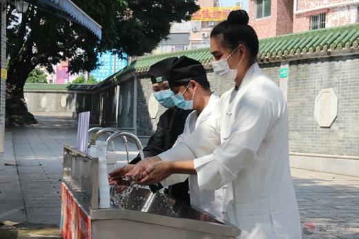 广州道教纯阳观认真做好常态化疫情防控期间场所有序恢复限流开放准备工作