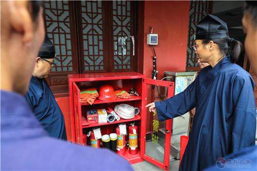 浙江省德清县道教协会组织各场所安全责任人参加消防安全培训及演练