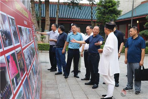 湖南省民宗委副主任刘鸿伏视察邵阳玉清宫