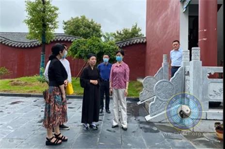 湖北省委统战部调研组一行到仙桃永兴观调研