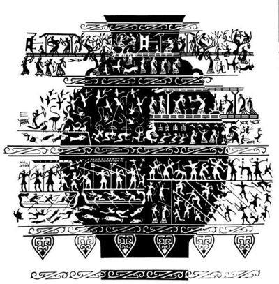 成都百花潭出土的战国宴乐水陆攻战纹铜壶