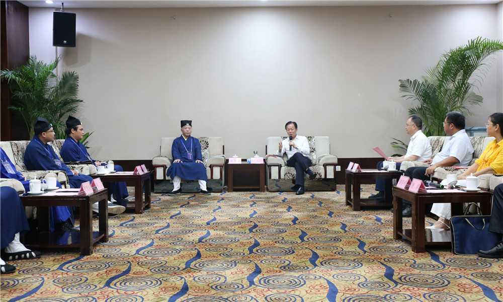 广西区委统战部部长徐绍川会见广西道教协会新一届领导班子