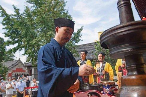 泰山道教纪念抗战胜利75周年和平祈祷法会在泰山灵应宫举行