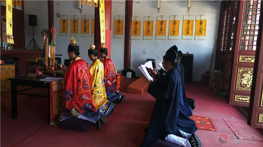 湖南省娄底市玄真观举行纪念抗日战争胜利75周年和平祈祷法会