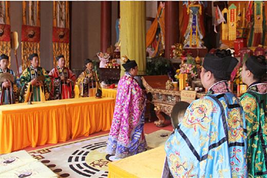 陕西省汉中青龙观举行纪念抗战胜利75周年和平祈祷法会
