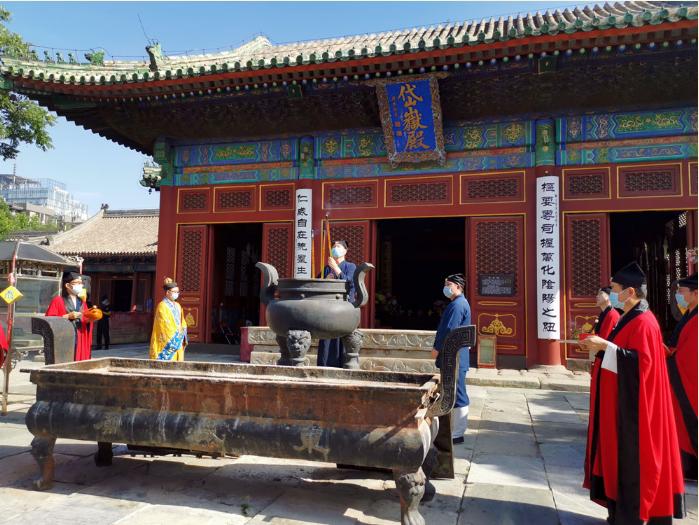 北京市道教界举行和平祈祷活动纪念抗战胜利75周年
