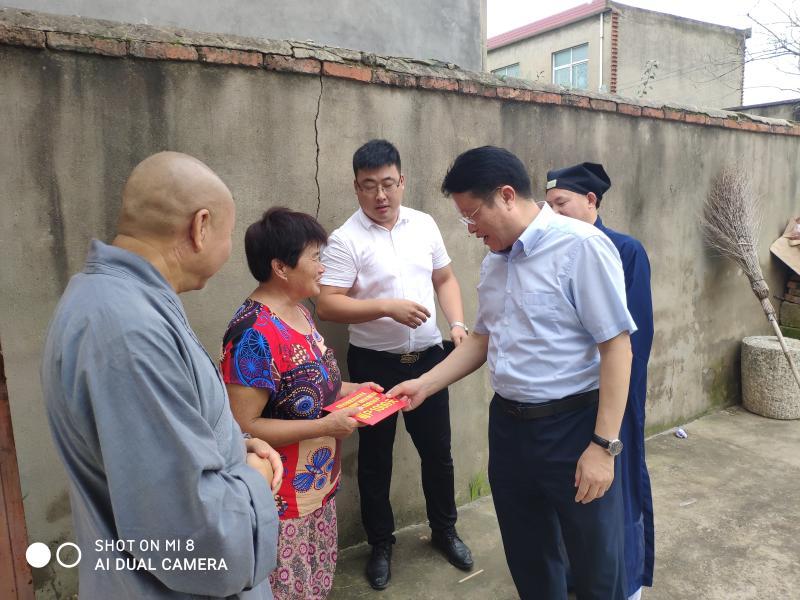 安徽省民宗局一行赴淮南市谢家集区开展助灾和调研活动