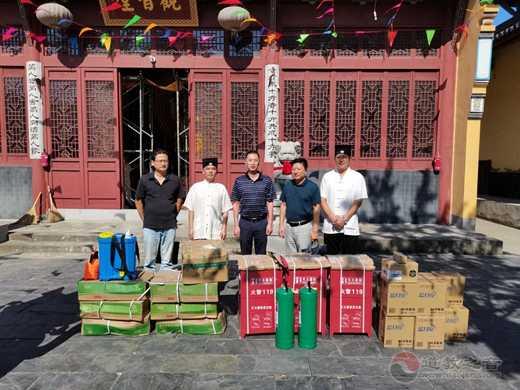 南京市民宗局、南京市道协一行走访慰问基层宫观