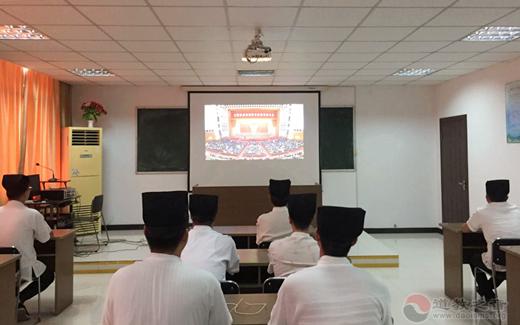 南京道教界人士集中收看全国抗击新冠疫情表彰大会