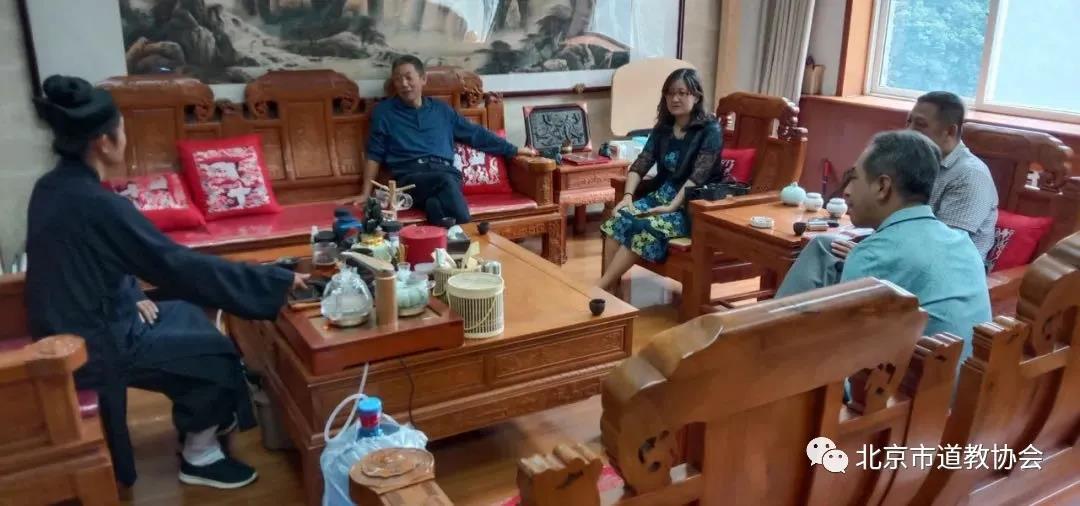 北京市民族宗教委副主任孙启到上英水真武庙调研