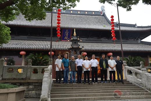 葫芦岛市委常委、统战部部长甄国强一行到苏州玄妙观考察