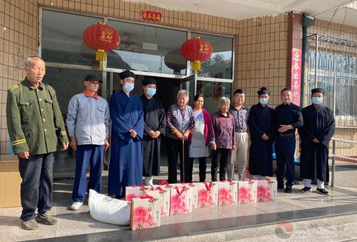 北京市房山区上英水真武庙开展中秋敬老活动