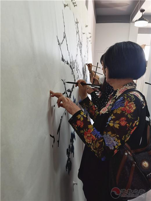 """""""惠风和畅""""粤东道教书画展活动举行名家创作笔会"""