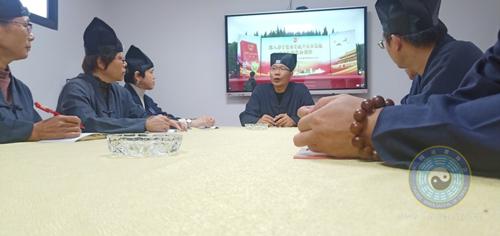 莆田浙江城隍庙组织教职人员观看福建省宪法宣传周启动仪式直播
