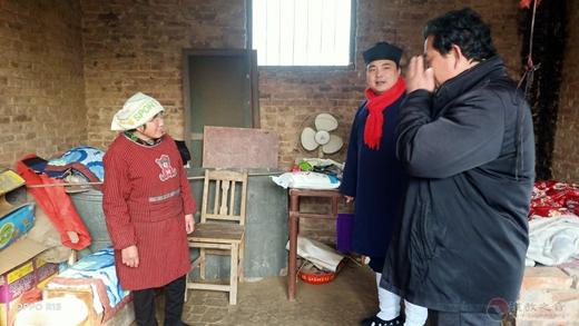 山东莘县道教协会赴河店镇开展冬季送温暖扶贫慰问活动