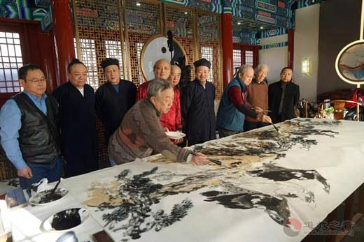 北京市西城区道教协会举办书画笔会活动