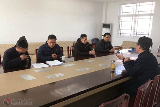 南京市民宗局一级调研员金宗泽一行到市道协检查安全工作