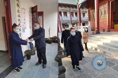 湖北省仙桃市民宗委负责人到永兴观指导疫情防控工作