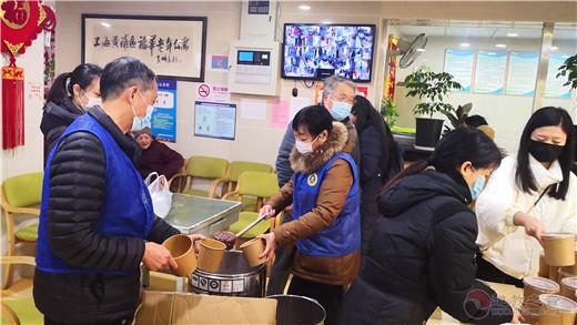 """上海城隍庙开展""""腊八节""""送温暖活动"""