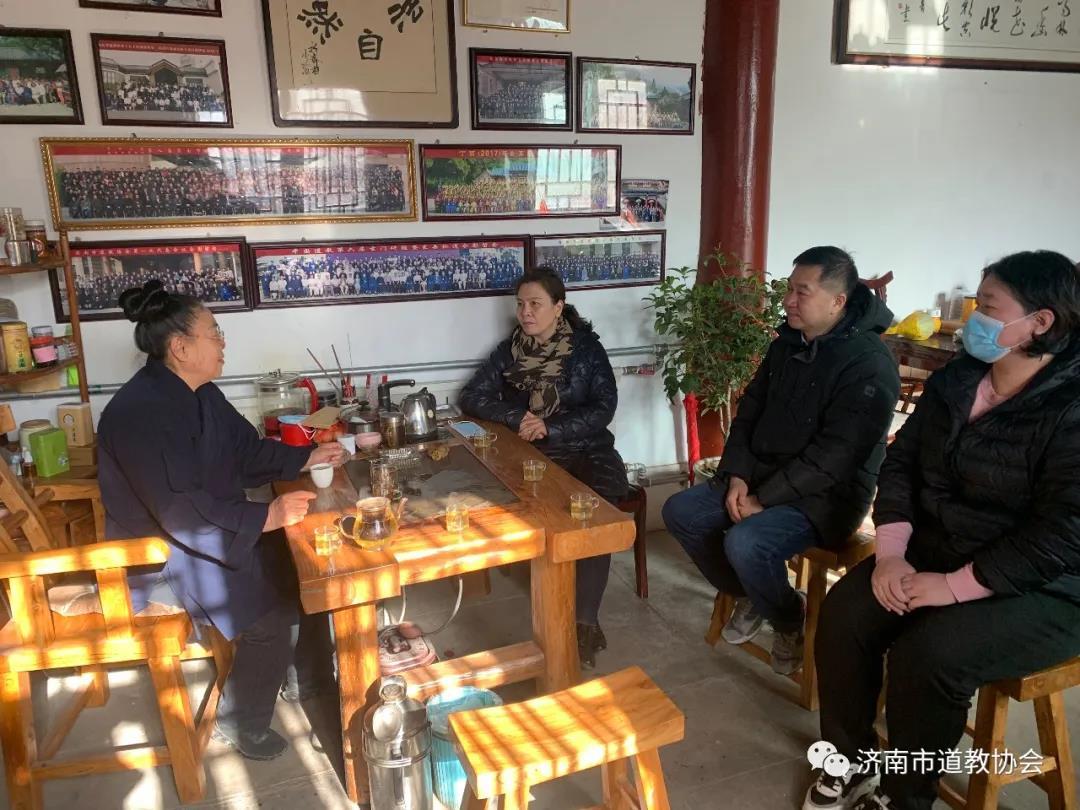 济南市委统战部副部长于红赴明真观调研慰问