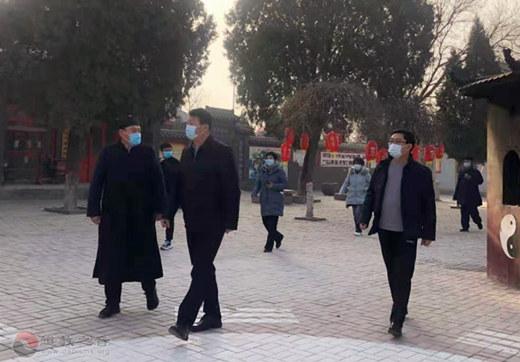 山东省临清市委常委、统战部长王惠峰赴市道协慰问