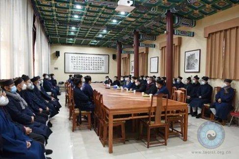 中国道教协会驻会领导班子一行到直属宫观检查慰问