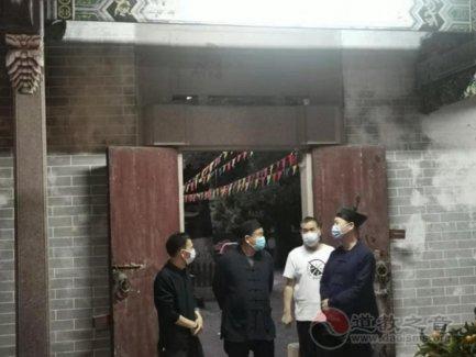 广东省道教协会会长潘志贤道长一行到惠州开展节前巡查工作