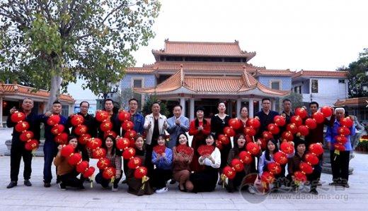 广东省陆丰市妈祖文化研究会录制视频向境内外游客香客拜年